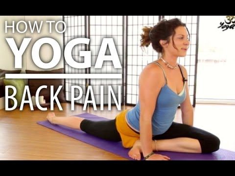 yoga for back pain  30 minute back stretch sciatica pain