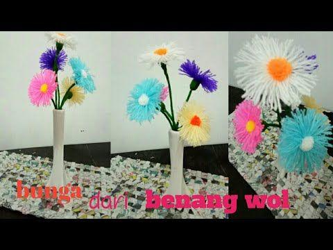 84 Cara Membuat Bunga Dari Benang Wol I Diy Woolen Craft Idea I