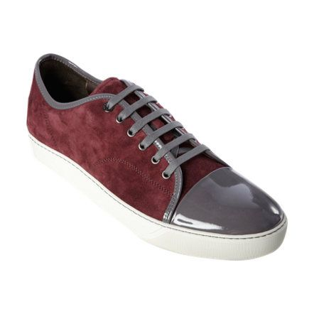 Lanvin Patent Cap Toe Low-Top at Barneys.com