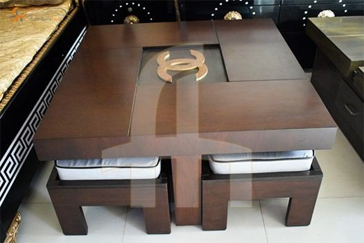 Buy Gucci Center Table With 4 Stools Online At Discount Price In