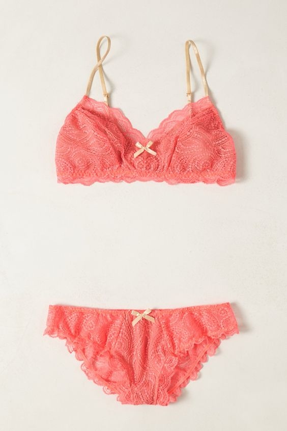 Auroral Lacy Bralette - Anthropologie.com - Sale: Panties & Bra Set $48.00 (06.21.13)