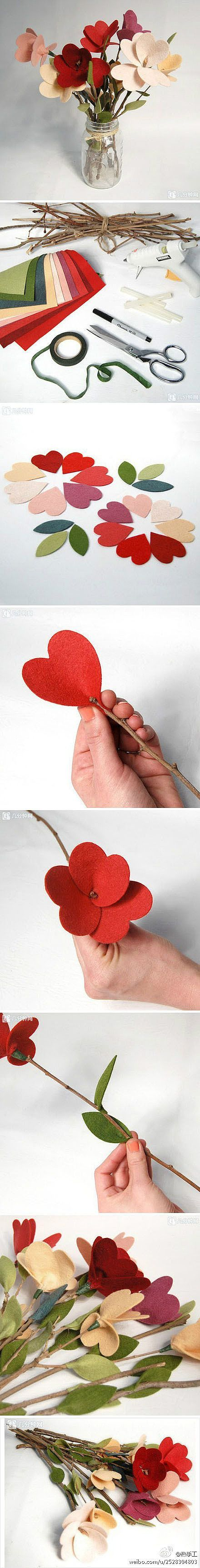 Não-tecidos arranjo de flores à mão