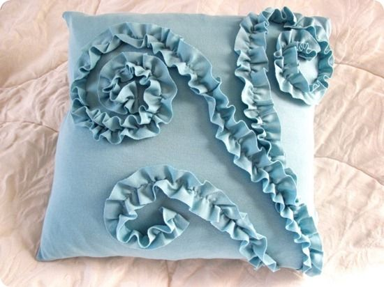This is my favorite ruffle pillow!
