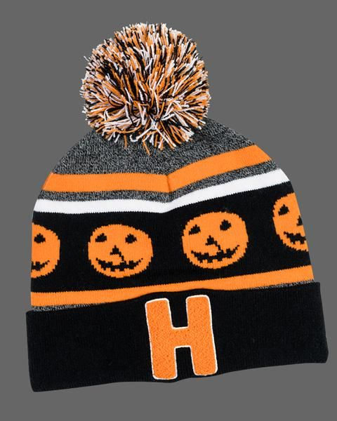 Halloween 1978 And 2020 Feature Halloween 1978 Pom Beanie Black/Orange / One Size | Fright Rags in