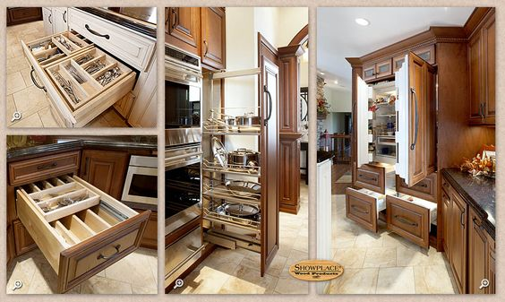 lot of smart showplace convenience is built into the kitchen in the : organizer drawer showplace kitchen convenience accessories