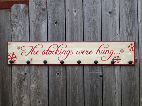 Hey, I found this really awesome Etsy listing at https://www.etsy.com/listing/167301173/the-stockings-were-hung-wood-sign
