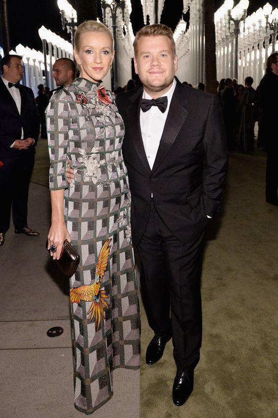 Julia Carey and James Corden  - Corden in Gucci