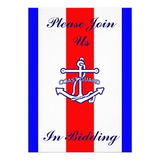 Patriotic Coast Guard Farewell Party Invitation