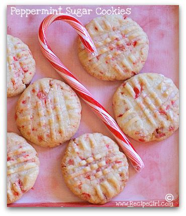 Peppermint Sugar Cookies.  I've died & gone to heaven!: Sugar Cookies, Christmas Cookie, Cookies Bars, Cookie Exchange, Recipes Cookies, Candy Cane Sugar Cookie, Candy Canes, Peppermint Cookies, Peppermint Sugar