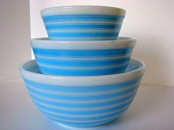 stripped pyrex bowls