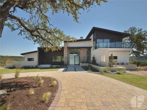 Gorgeous 5 000 sq ft modern hill country home sitting on 1 for Modern house plans 5000 square feet