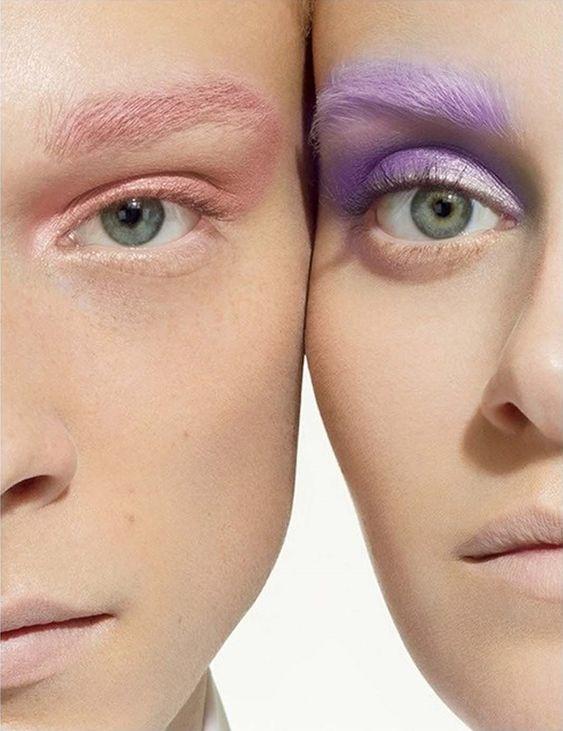 Tendance maquillage: les sourcils arc-en-ciel