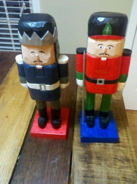 A pair of custom nutcrackers