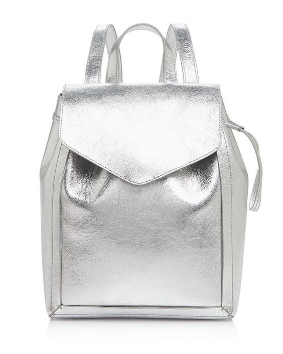 Loeffler Randall Mini Metallic Backpack: