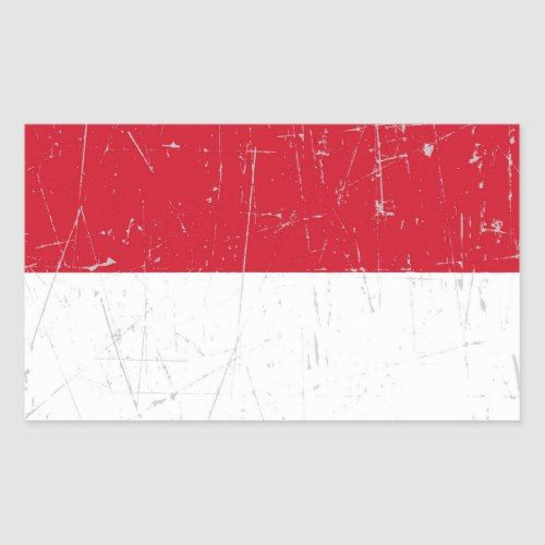 Scuffed And Scratched Indonesian Flag Rectangular Sticker Zazzle Com Unique Flags Indonesian Flag Custom Stickers