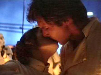Han Solo Kisses Princess Leia from The Best Star Wars Movie Moments Ever   E! Online