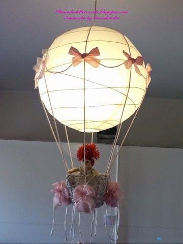 Coccolandia: Lampadario Mongolfiera, con palla carta di riso Ikea ...