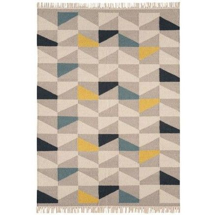 http://www.therughouse.co.uk/aztec-blue-mustard-geometric-flatweave-wool-rug