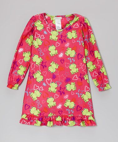 Take a look at this Pink Frog & Stars Nightgown - Girls by Komar Kids on #zulily today!