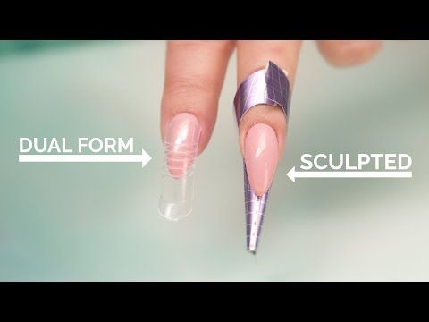 1706 Dual Forms Vs Sculpted Acrylic Nails Youtube Sculptured Nails Diy Acrylic Nails Sculptured Acrylic Nails