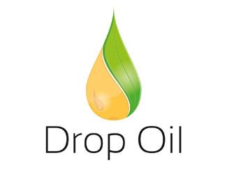 drop oil logo design a combination of an oil drop and a