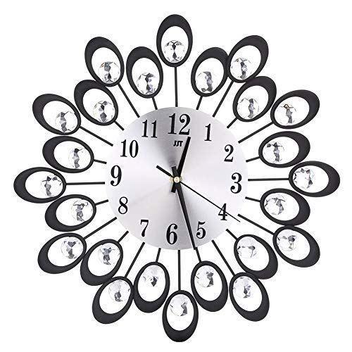 Luxury Wall Clock Vintage Metal Art Wall Clock Home Living Room Wall Decor Clock
