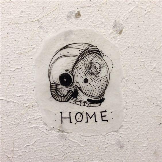 home is where you hang yourself #flashwork #cosmonaut #astronaut                                                                                                                                                      More