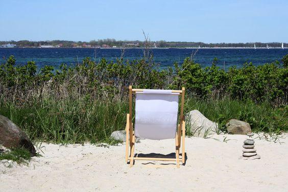 Relax, chair at the baltic sea in Eckernförde, photo Birgit Puck