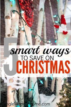 Don't break your budget over gifts! Instead, try these five smart ways to save on Christmas. http://singlemomsincome.com/smart-ways-save-christmas/