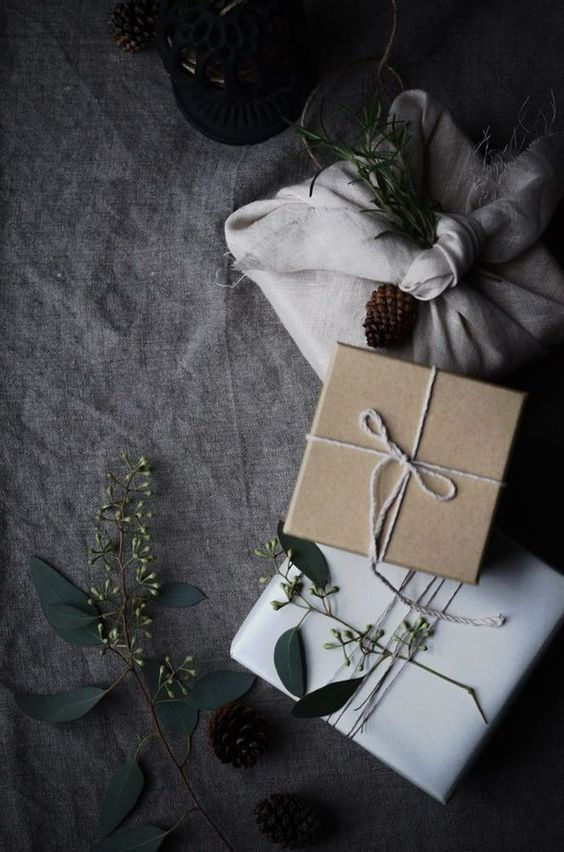 simple and natural gift wrapping ideas #geschenke #verpacken