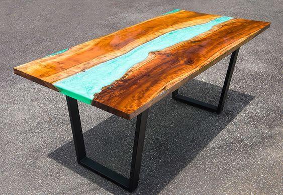 Anleitung: Epoxidharz Tisch aus Holz selber machen | Selber