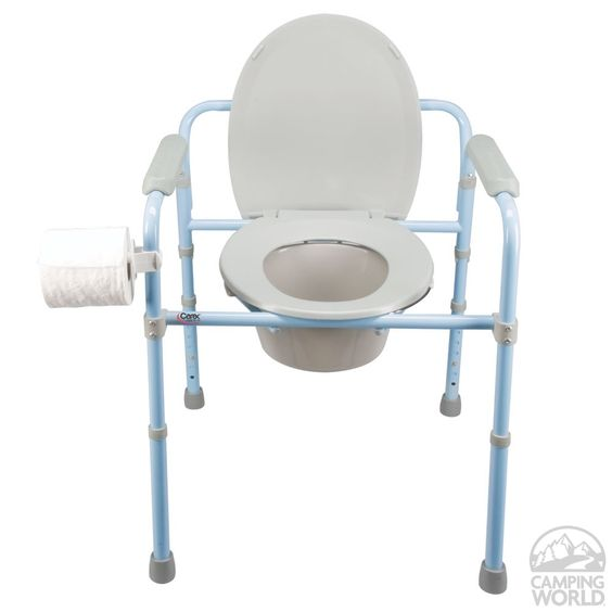 Deluxe folding commode toilets shopping and camping world for Deluxe portable bathrooms