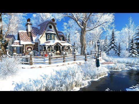 Winter Cottage Screensaver 4k Uhd Youtube Screen Savers Cottage Winter