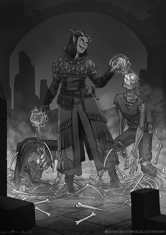 Fantasy Art Dnd Necromancer