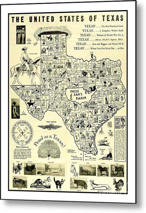 1951 Humorous Texas Map With Mythical Texas Animal Mutants Texas Texas Map Vintage Texas Map Humorous Texas Map Tex Texas Map Texas State Map Texas Animals