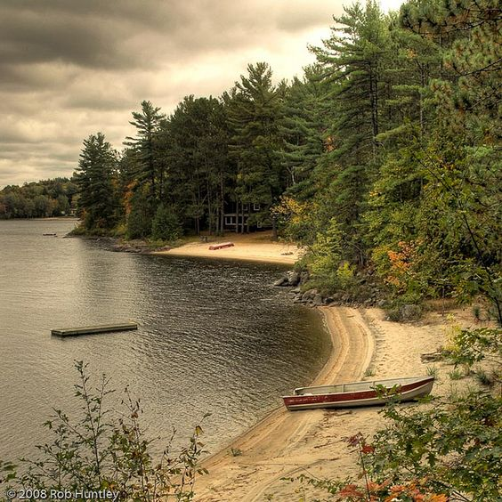 Cottage Country Shoreline, via Flickr by Rob Huntley.