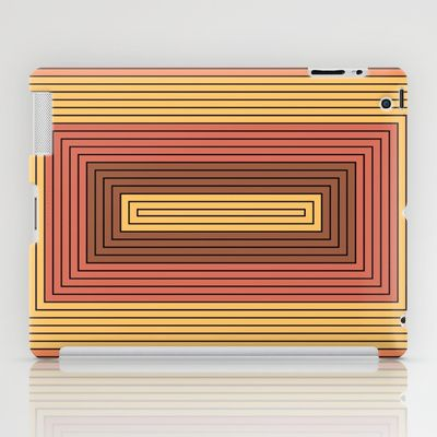 Rectangles gamboge and vermilion iPad Case by aapshop - $60.00