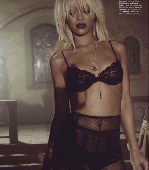 Rihanna by Tom Munro for Elle US May 2012 as 'Forever Strong'