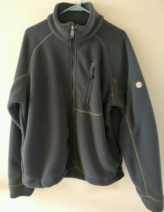 Men's Timberland Weather Gear Full Zip Fleece Jacket Size Medium ...