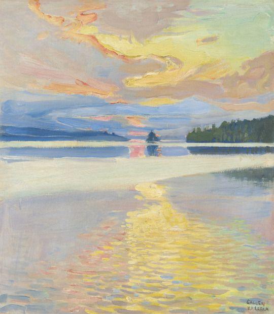 Akseli Gallen-Kallela, Coucher de Soleil sur le lac Ruovesi