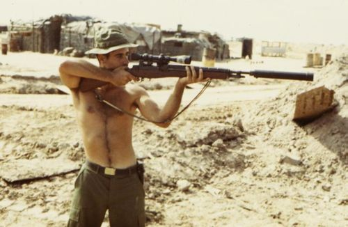 dogatemytank: 1969/1970 US sniper of Company A, 22nd Mechanized Infantry Regiment, 25th Infantry Division, Vietnam