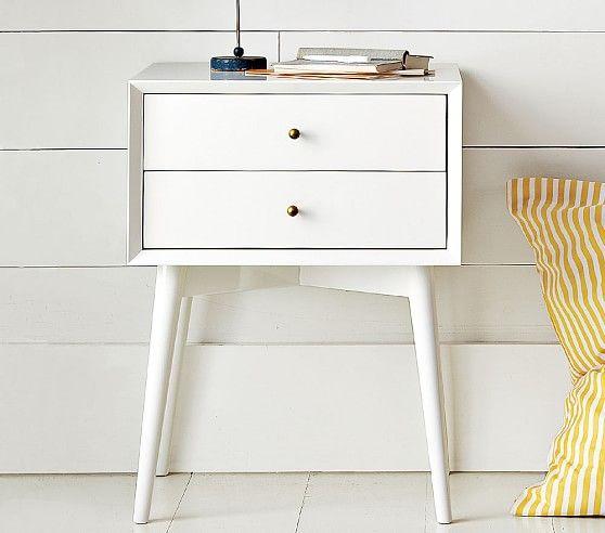 West Elm X Pbk Mid Century Nightstand White Mid Century Nightstand White Bedroom Furniture Kids Nightstand