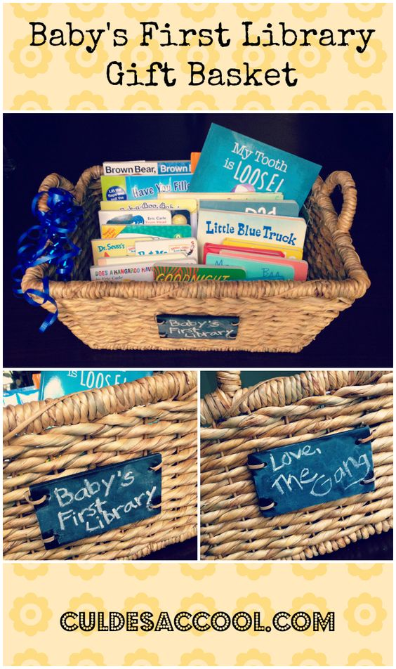 Baby Gift Baskets With Books : Baby s first library gift basket children books