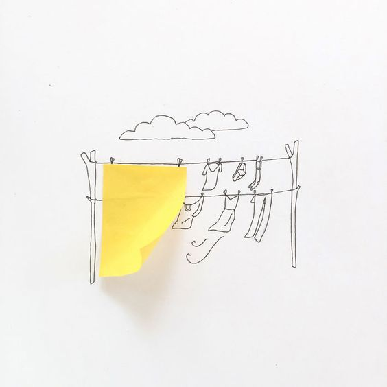 Desirée De León usa pequenos objetos para completar seus desenhos - Foto…
