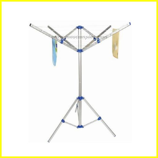 Foldable- Rotary Airer Set-NEW ! -3 legs Stand -4 Arm Airer -3 rings on each leg end  -3 Heavy duty Pegs to fix Stand -One carrybag  with PVC window for insert