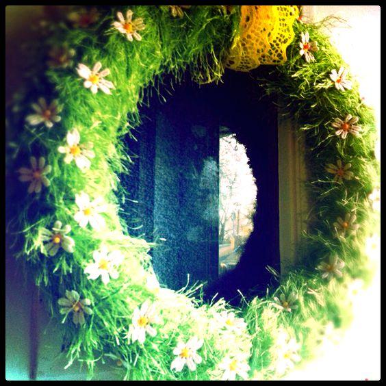 Beautiful spring wreath I made!