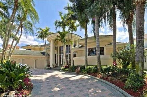 As for his other home (pictured) in Palm Beach County, Carson purchased the home…