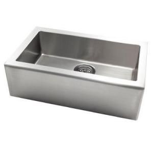 New Kitchen Sink - Pegasus Apron Front Freestanding Stainless Steel at Home Depot $551