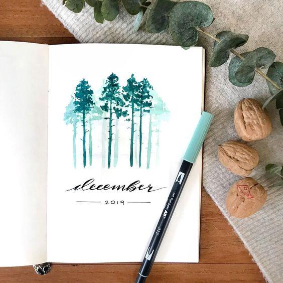 30 idées pour votre page de décembre dans votre Bullet Journal - @linneasjournal on instagram