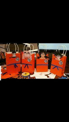 Candy Bags Dragon Ball Z Party Bags Disfraz De Goku Fiesta De Goku Cumpleaños De Dragón